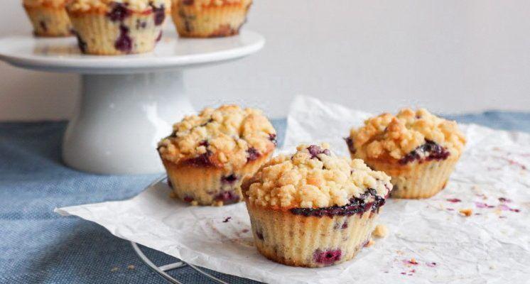Blaubeer Streusel Muffins